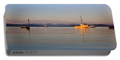 10/11/13 Morecambe. Fishing Boats Moored In The Bay. Portable Battery Charger