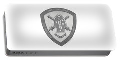 Portable Battery Charger featuring the painting 10th Marines Crest by Betsy Hackett