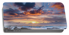 An Atmospheric Sunrise Seascape Portable Battery Charger