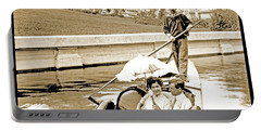 1904 Worlds Fair, Sighteeing Boat, Oarsman And Couple Portable Battery Charger