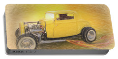 1932 Ford Coupe Yellow Portable Battery Charger