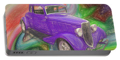 1934 Ford Colored Pencil Portable Battery Charger