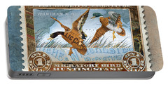 1934 Hunting Stamp Collage Portable Battery Charger