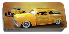 1949 Woody And 1932 Roadster Portable Battery Charger