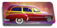 1951 Chevy Woody Sideview Portable Battery Charger