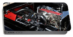 Portable Battery Charger featuring the photograph 1957 Chevrolet Corvette Engine by Debi Dalio