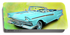1957 Ford Fairlane Convertable Portable Battery Charger