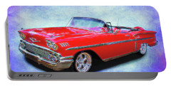 1958 Red Chevy Convertable Portable Battery Charger