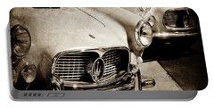 1960 Maserati Grille Emblem-1098scl3 Portable Battery Charger