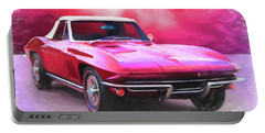 1965 Red Vette Portable Battery Charger