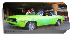 1970 Green Cuda Portable Battery Charger