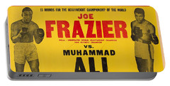 1971 Muhammad Ali Vs Joe Frazier I On Site Fight Poster Portable Battery Charger