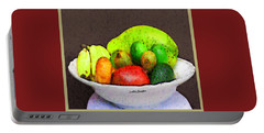 Abstract Fruit Art   103 Portable Battery Charger