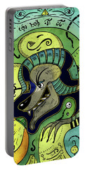 Portable Battery Charger featuring the digital art Anubis by Sotuland Art