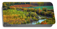 Autumn Colors On The Ebro River Portable Battery Charger