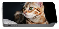 Bengal Cat Portrait Portable Battery Charger