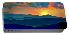 Blue Ridge Mountains Sunset Portable Battery Charger