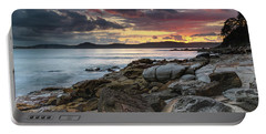 Colours Of A Stormy Sunrise Seascape Portable Battery Charger