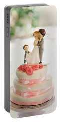 Desserts And Wedding Cake With Very Sweet Cupcakes At An Event. Portable Battery Charger