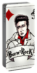 Elvis Is A Punk Portable Battery Charger
