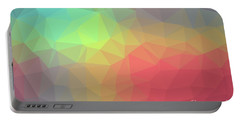 Gradient Background With Mosaic Shape Of Triangular And Square C Portable Battery Charger