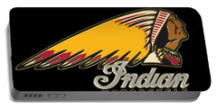 Indian Motorcycle Logo 1 Portable Battery Charger