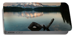 Mount Rundle And Two Jack Lake Portable Battery Charger