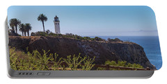 Portable Battery Charger featuring the photograph Point Vicente Lighthouse by Ed Clark