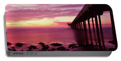 Silhouette Of A Pier In The Pacific Portable Battery Charger