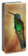 Sparkling Violetear Hummingbird Portable Battery Charger