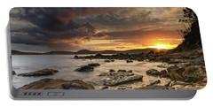 Stormy Sunrise Seascape Portable Battery Charger