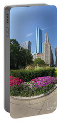 Summer Flowers In Bloom, Millennium Park, Chicago City Center, I Portable Battery Charger