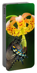 Portable Battery Charger featuring the photograph Swallowtail On Turks Cap by Donald Brown