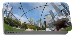 The Great Lawn, Trellis, Bandshell And Jay Pritzker Pavilion, Mi Portable Battery Charger