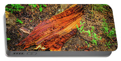 Portable Battery Charger featuring the photograph Wet Wood by Jon Burch Photography