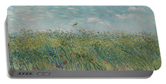 Wheatfield With Partridge Portable Battery Charger