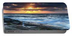 A Moody Sunrise Seascape Portable Battery Charger