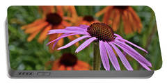 2019 June At The Gardens Coneflowers Portable Battery Charger