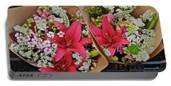 2019 Monona Farmers' Market July Bouquets 1 Portable Battery Charger