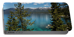 Lake With Mountain Range Portable Battery Charger