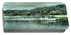 Boats At Northport Harbor Portable Battery Charger