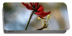 Coral Tree Flowers Portable Battery Charger