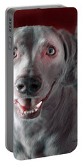 Weimaraner Star Portrait 3 Portable Battery Charger