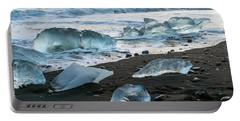 The Diamond Beach, Jokulsarlon, Iceland Portable Battery Charger