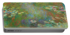 Portable Battery Charger featuring the digital art Water Lily Pond by Claude Monet