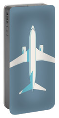 737 Passenger Jet Airliner Aircraft - Slate Portable Battery Charger