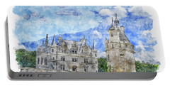 Architecture #watercolor #sketch #architecture #castle Portable Battery Charger