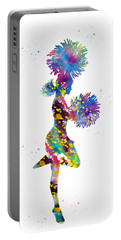 Cheerleader With Pompoms Portable Battery Charger
