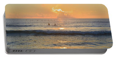Portable Battery Charger featuring the photograph 9/3/18 Kitty Hawk Sunrise by Barbara Ann Bell