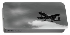Portable Battery Charger featuring the photograph A-10 Slow Pass by Doug Camara